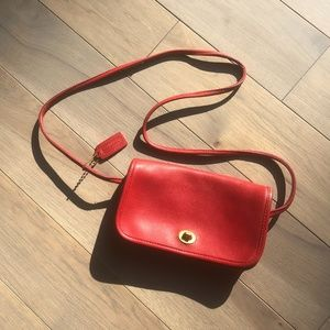 Coach Vintage Red Dinky Bag Made in NYC